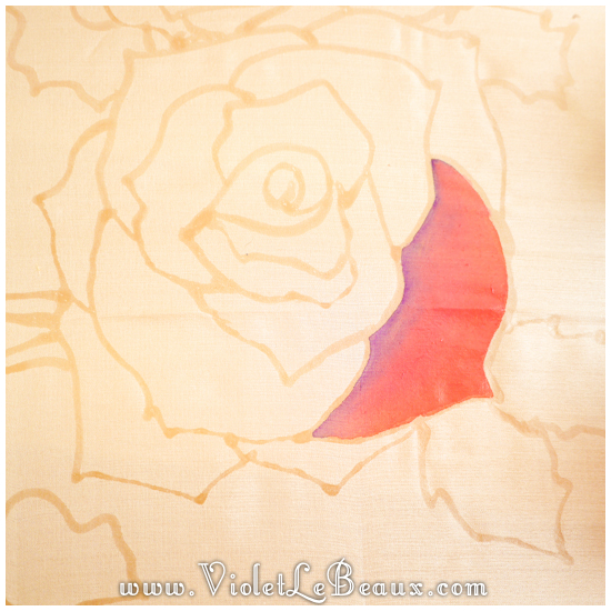 02 how to silk paint rose Watercolour Style Silk Painting Experiments!