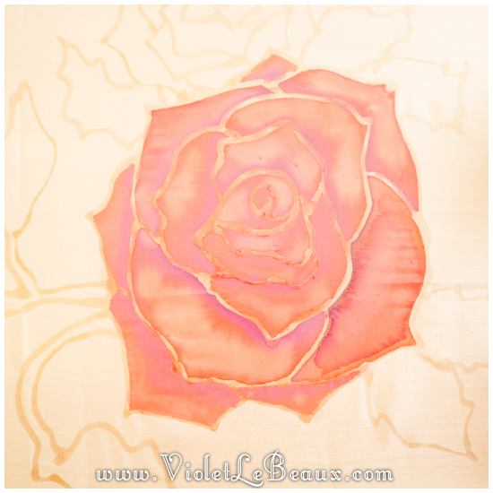 06 how to silk paint rose Watercolour Style Silk Painting Experiments!