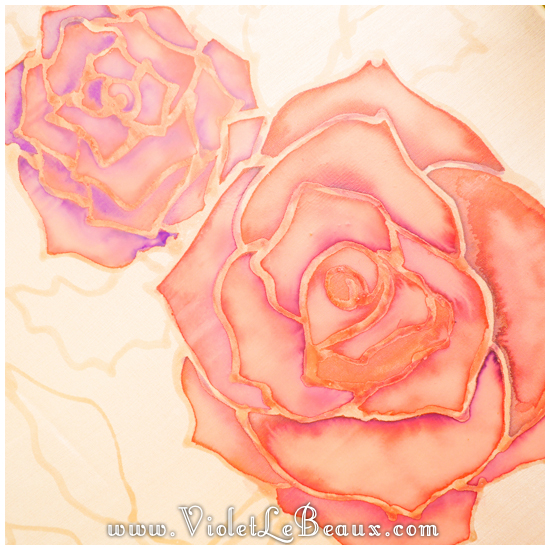 07 how to silk paint rose Watercolour Style Silk Painting Experiments!