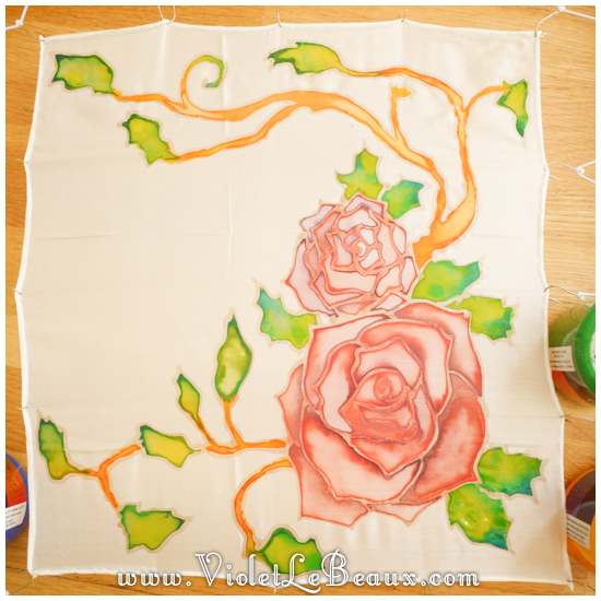 12 how to silk paint rose Watercolour Style Silk Painting Experiments!
