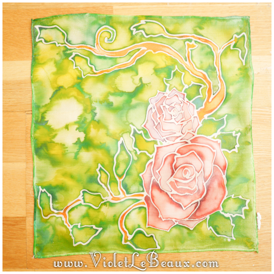 18 how to silk paint rose Watercolour Style Silk Painting Experiments!
