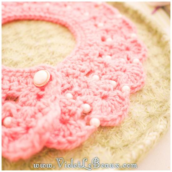 01 crochet collar pattern Removable Crochet Collar Tutorial