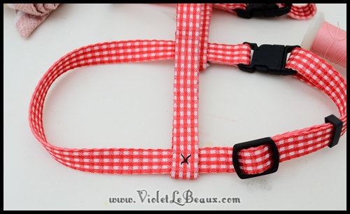 How To Pretty Up A Puppy Harness Violet Lebeaux Tales Of An Ingenue. Wiring. Homemade Dog Harness Patterns At Scoala.co