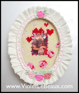 Cross Stitch Purikura Frame Tutorial