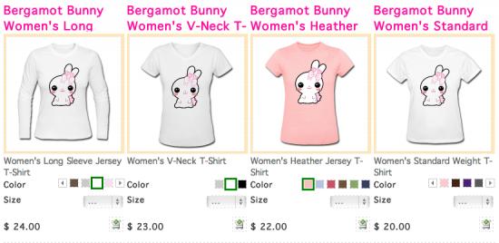 Bergamot Bunny Shirts
