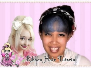 How To Do A Big Random Ribbony Updo Hair Style- Styling Celeste Tutorial