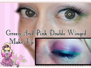 Morning Make Up- Green and Pink Double Wings