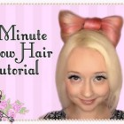How To Do A 5 Minute Bow Hairstyle Tutorial Lady Gaga Hair