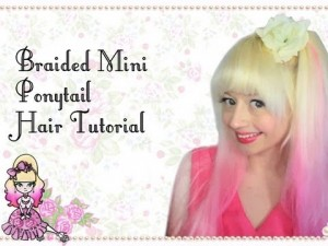 Braided Mini Ponytail Hairstyle Tutorial