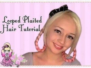 Looped Plaited Hair Tutorial For Spring