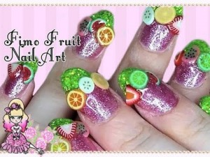 Fun Summer Fimo Fruit Nail Art Tutorial
