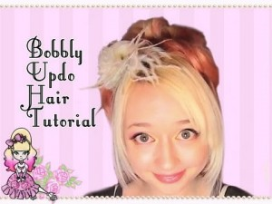 How To Do A Bobbly Updo- Hairstyle Tutorial
