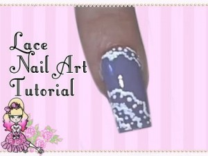 Lilac lace nail art tutorial