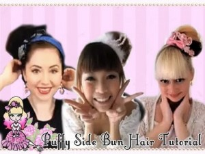 Cheesie, Candice and Violet's Hair Bun Tutorial