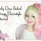 Curly One Sided Hairstyle Tutorial