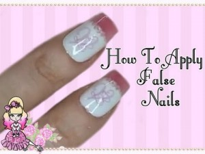Applying False Nails
