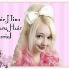 Basic Hime Hair Pouf Tutorial Using a Rat / 姫ギャル髪型チュートリアル