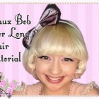 Faux Bob Style For Long Hair Tutorial