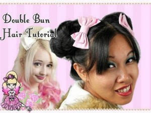 Celeste and Violet's Double Bun Hair Tutorial