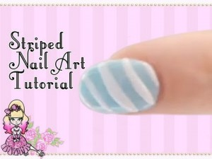 Basic Diagonal Striped Nail Art Tutorial