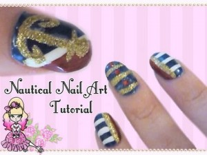 Basic Nautical Nail Art Tutorial