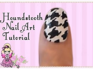 Houndstooth Nail Art Tutorial