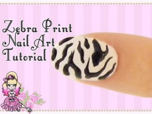 Zebra Print Nail Art Design Tutorial