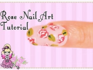 Rose Print Nail Art Design Tutorial