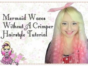 Mermaid Waves Without A Crimper Hairstyle Tutorial