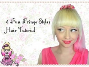 4 Fun Fringe Hairstyle Tutorials