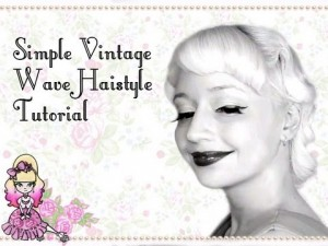 Easy Vintage Wave Hairstyle Tutorial