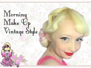 Vintage Style Red Lips and Black Liner  – Morning Make Up