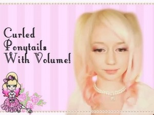 Curly Pigtails with Lots of Volume Hairstyle Tutorial