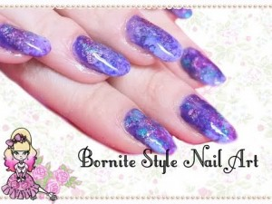 Bornite Stone (AKA Peacock Stone) Inspired Simple Nail Art