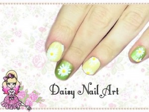 Short Nails Summer Daisy Nail Art