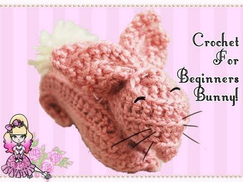 Crochet Tutorial for Beginners: Pink Bunny Rabbit (Reupload!)