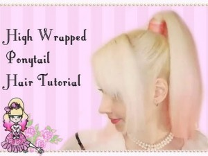 High Pony Tail With A Wrapped Base Hair Style Tutorial
