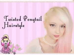 Twisted Faux Side Braids with PonyTail Hair Style Tutorial