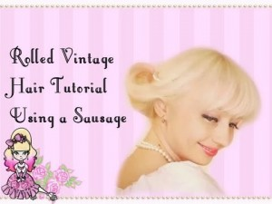 Vintage Rolled Hair Style Tutorial