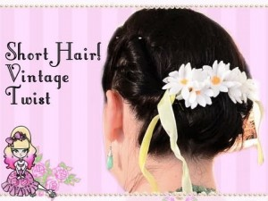Vintage Rolled Updo Short Hair Tutorial – Styling Stef