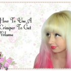 How To Use A Crimper For Extra Volume Hairstyle Tutorial