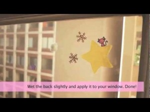 How To Make Snowflake Window Stickers