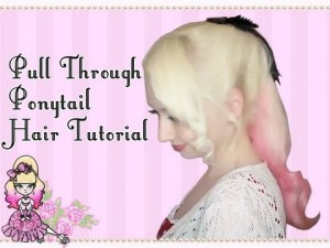 Simple Pull Through Ponytail Hair Style Tutorial