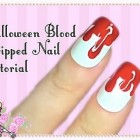 Halloween Horror Styled Dripping Blood Nail Art Tutorial