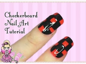 How To Paint Checkered Nail Art Tutorial
