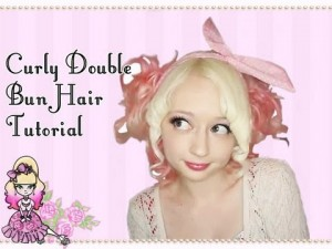 Low Curly Double Buns Hairstyle Tutorial