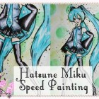 Hatsune Miku Speed Painting – Violet's Water Colour Adventure