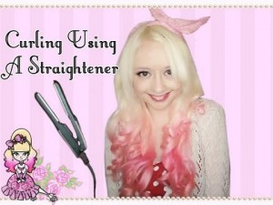Curling Ends Using a Mini Straightener Hair Style Tutorial