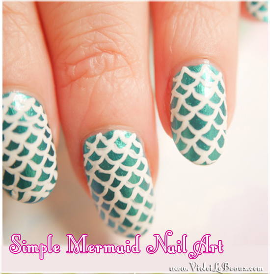 Easy-Mermaid-Nail-Art-Tutorial-Violet-LeBeaux-1