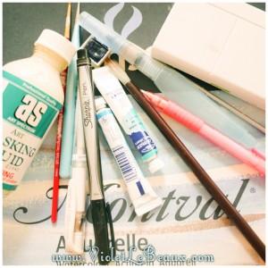00 watercolor painting tutorial materials 300x300 Tutorials
